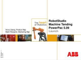RobotStudio  Machine Tending PowerPac 5.09  Launch