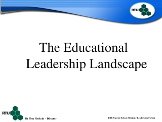 IT Leadership in the New Landscape