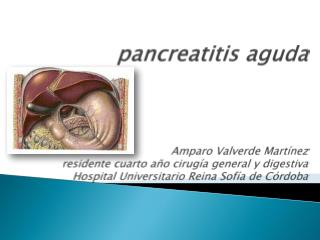 Pancreatitis aguda    Amparo Valverde Mart nez residente cuarto a o cirug a general y digestiva Hospital Universitario R