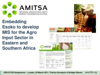 Embedding Esoko to develop MIS for the Agro Input Sector in Eastern and Southern Africa