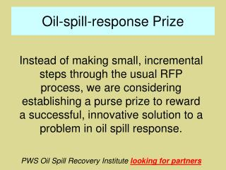 Oil-spill-response Prize