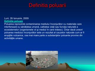 Definitia poluarii