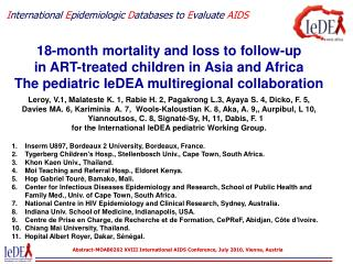 International Epidemiologic Databases to Evaluate AIDS