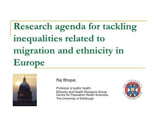 Research agenda for tackling inequalities related to migration and ethnicity in Europe