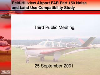 Reid-Hillview Airport FAR Part 150 Noise and Land Use Compatibility Study