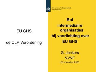 EU GHS  de CLP Verordening