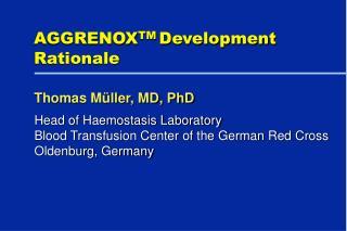 AGGRENOXTM Development Rationale
