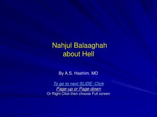 Nahjul Balaaghah about Hell