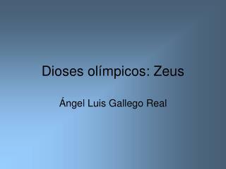 Dioses ol mpicos: Zeus