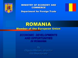 MINISTRY OF ECONOMY AND COMMERCE Department  for  Foreign Trade