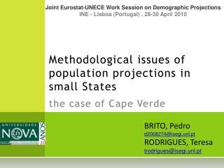 Methodological issues of population projections in small States   the case of Cape Verde
