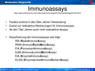 Immunoassays sumanasinc