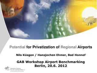 Potential for Privatization of Regional Airports  Nils K sgen