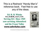 This is a Redneck  Handy Man s  reference book.  Feel free to use any of the ideas.