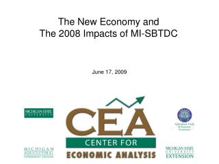 The New Economy and  The 2008 Impacts of MI-SBTDC