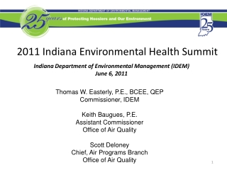EPA Preliminary Designations for the 24-hour PM2.5 National Ambient Air Quality Standard