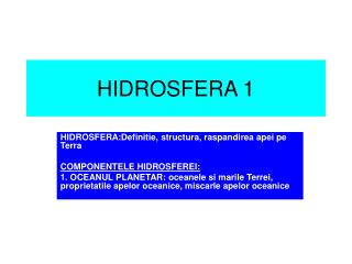 HIDROSFERA 1