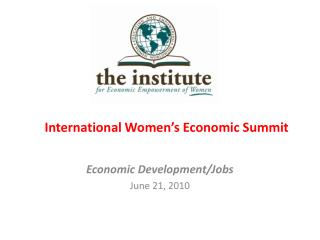 International Women s Economic Summit
