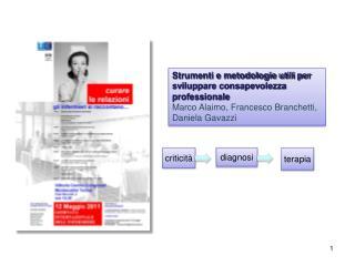Strumenti e metodologie utili per sviluppare consapevolezza professionale Marco Alaimo, Francesco Branchetti, Daniela Ga