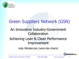 Green Suppliers Network GSN