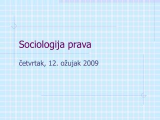 Sociologija prava