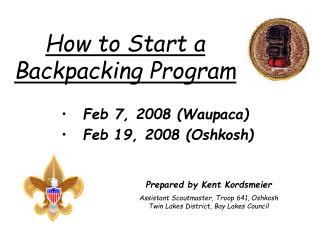 How to Start a Backpacking Program