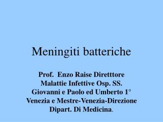 Meningiti batteriche