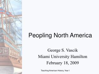 Peopling North America