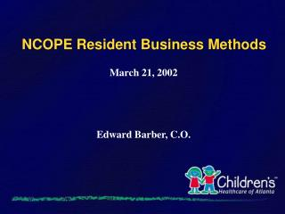 NCOPE Resident Business Methods