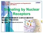 Signaling by Nuclear Receptors