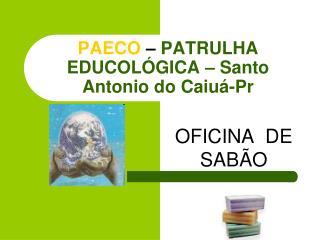 PAECO   PATRULHA  EDUCOL GICA   Santo Antonio do Caiu -Pr