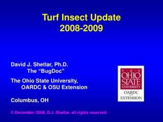 Turf Insect Update 2008-2009