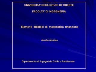 Elementi  didattici  di  matematica  finanziaria
