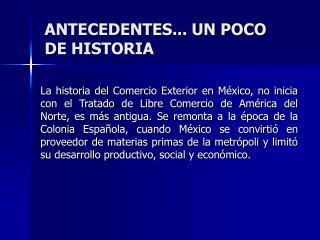 ANTECEDENTES... UN POCO DE HISTORIA