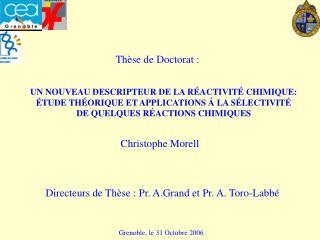 UN NOUVEAU DESCRIPTEUR DE LA R ACTIVIT  CHIMIQUE:   TUDE TH ORIQUE ET APPLICATIONS   LA S LECTIVIT  DE QUELQUES R ACTION