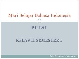 media pembelajaran bahasa indonesia kelas II semester 1