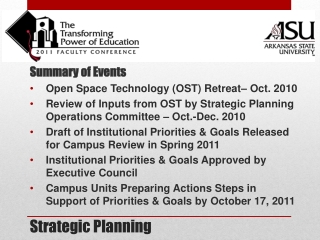 Strategic Planning  for Student Success