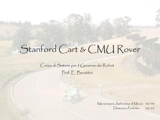 Stanford Cart  CMU Rover