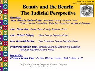 State Bar of California Council on Access  Fairness