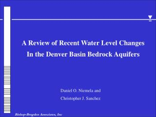 In the Denver Basin Bedrock Aquifers