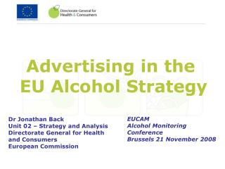Advertising in the  EU Alcohol Strategy