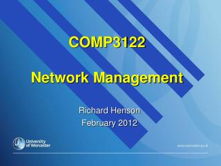 COMP3122  Network Management