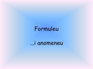 Formuleu