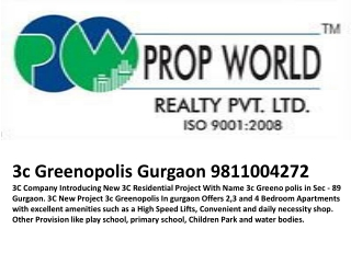 3C Greenopolis 9811004272