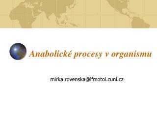 Anabolick  procesy v organismu