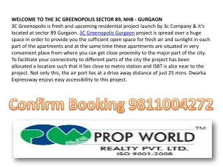 3C Greenopolis Gurgaon 9811004272