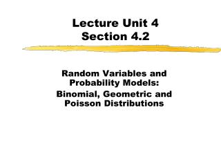 Lecture Unit 4 Section 4.2