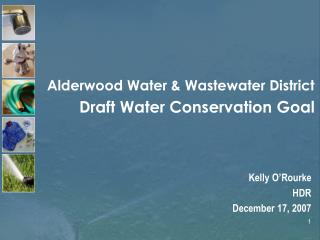 Alderwood Water  Wastewater District  Draft Water Conservation Goal