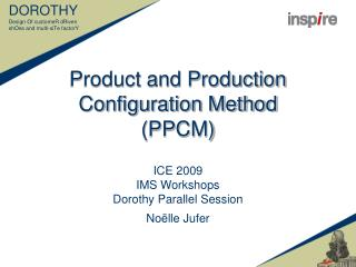 Product and Production Configuration Method PPCM