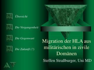 Migration der HLA aus milit rischen in zivile Dom nen